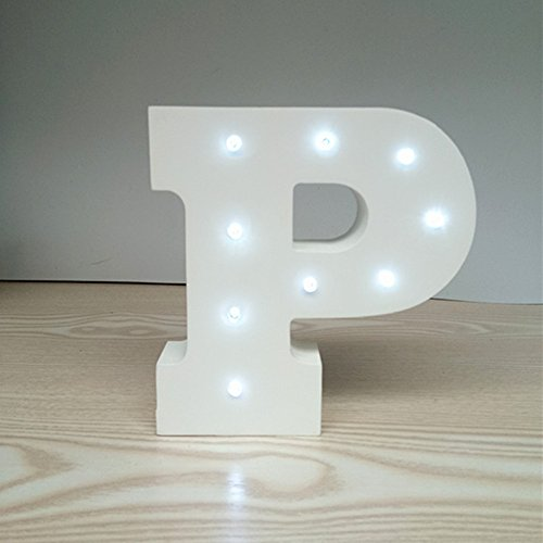 ARTSTORE Decorative DIY LED Letter Lights Sign,Light Up Wooden Alphabet Letter Battery Operated Party Wedding Marquee Décor,Cold White (Custom Wood Letter Blocks)