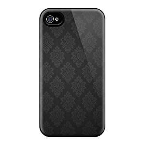 pc Fashionable Design Black Baroque Pattern Rugged Case Cover For Iphone 4/4s New