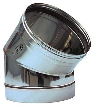 Codo para tubos estufa de acero inoxidable Piemme Speedy Art.02a 45° Diámetro 250mm: Amazon.es: Bricolaje y herramientas