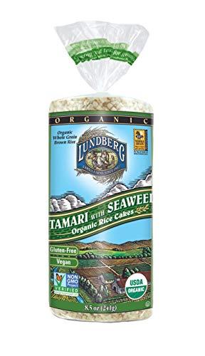 (Lundberg Rice Cakes, Tamari with Seaweed, 8.5 Ounce (Pack of 6),)