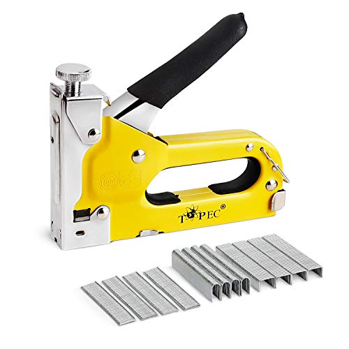 Staple Gun, 3 in 1 Manual Nail Gun with 1800 Staples - Heavy Duty Gun for Upholstery, Fixing Material, Decoration, Carpentry, Furniture (Staple Gun Staples)