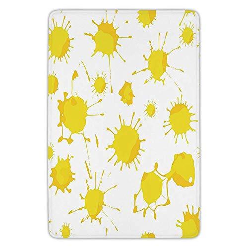 K0k2t0 Bathroom Bath Rug Kitchen Floor Mat Carpet,Yellow Whi