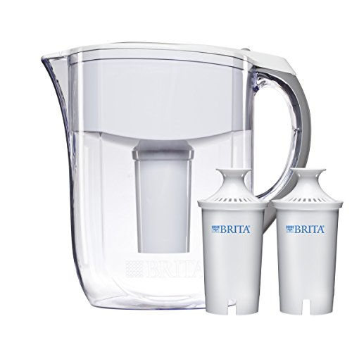 Brita 10 Cup White Grand Water Filter Pitcher with 2ct (Grand Pitcher)