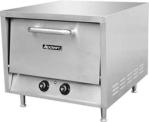 Adcraft PO-18 18-Inch Single Deck Counterop Pizza Oven, Stainless Steel, 240v, NSF