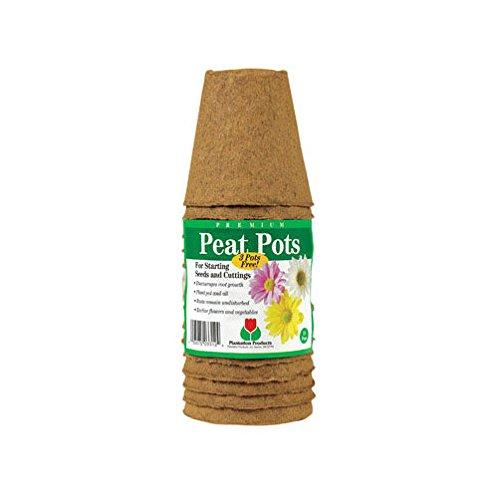 Plantation Products Round Peat Pots 3