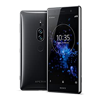 "Sony Xperia XZ2 Premium Unlocked Smartphone - Dual SIM - 5.8"" 4K HDR Screen - 64GB - Chrome Black (US Warranty)"