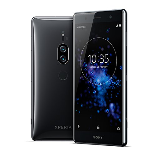 "Xperia XZ2 Premium Unlocked Smartphone - Dual SIM - 5.8"" 4K HDR Screen - 64GB - Chrome Black (US Warranty)"