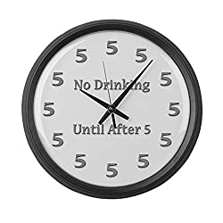 CafePress - 2-Clock-Stainless-Large - Large 17 Round Wall Clock, Unique Decorative Clock