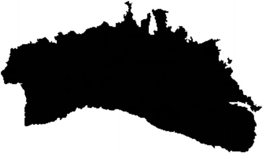 negro ca. 11 x 7 cm 2 adhesivos de vinilo para el coche o la moto  Menorca  Isla espa/ñola Sticker // Pegatina sin fondo