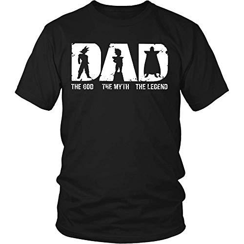 Funny Dragonball Super Saiyan Vegeta Dad The god The Myth The Legend Shirt Black -