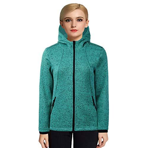 Jacket Training Winter (beroy Women Fleece Jackets Zip Up Sweater Jackets,Winter Fleece Coat for Women (Green281, XXX-Large))