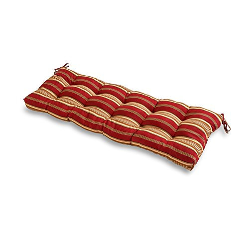 Greendale Home Fashions Indoor/Outdoor Bench Cushion, Roma Stripe, 51-Inch -
