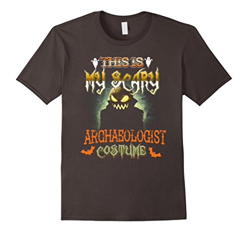 Archaeologist Costume Male (Mens This is My Scary Archaeologist Costume Scare Halloween Shirt 3XL Asphalt)