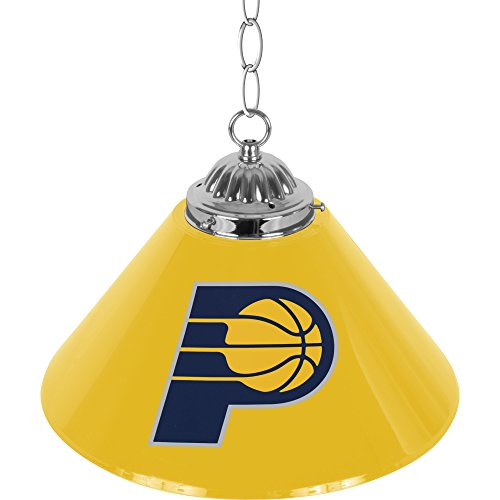 NBA Indiana Pacers Single Shade Gameroom Lamp, - Premium Indiana Outlet