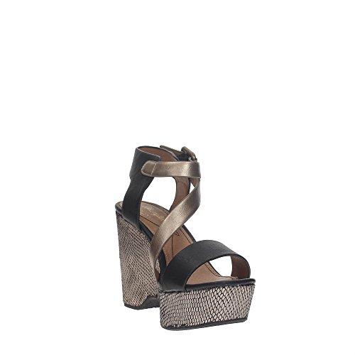 Wrangler WM171722 Zapatos De Cuña Mujer Black Bronze - faberwifi.es 640bddd613ab