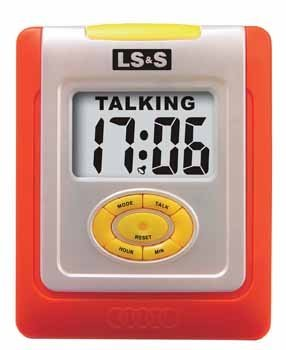 Divine Medical Talking Desk Clock - Orange Border by Divine Medical