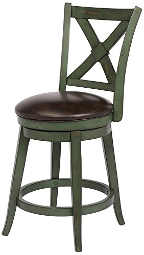 Bailey Counter Height Swivel Stool, Green (Bailey Stool)
