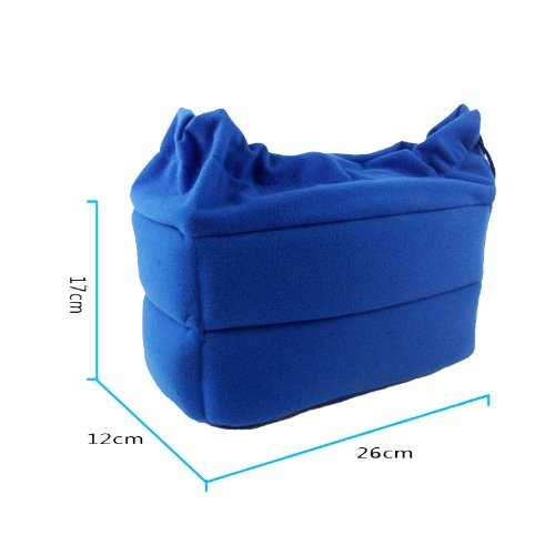 Dslr Camera Organizer Bag Insert Partition Padded Package with Removable Partition Pads-blue