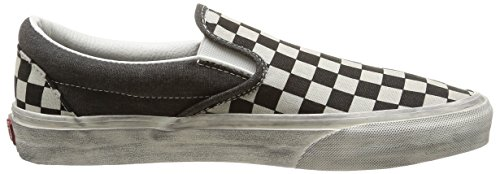 Nero Vans Sneaker on Classic Adulto Overwashed U Basse Check Slip Overwashed Black Unisex ZqzrZXw