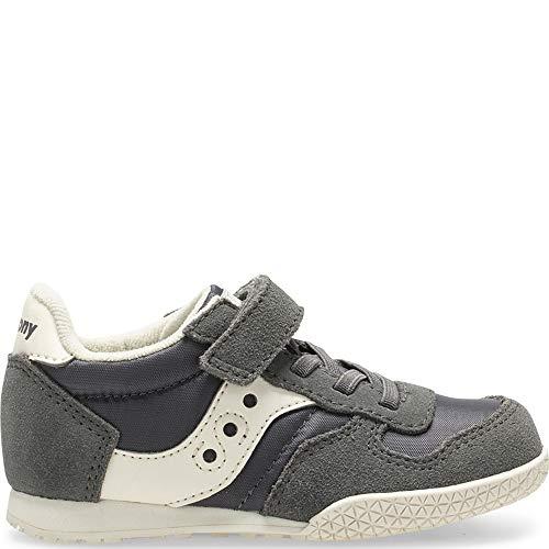 (Saucony Bullet Jr. Sneaker Little Kid 7 Grey/Cream)