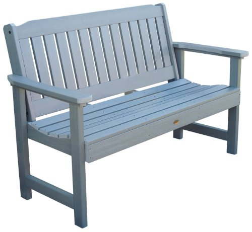 Highwood Lehigh Garden Bench, 4 Feet, Coastal Teak