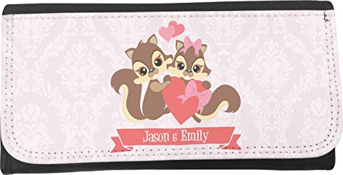 Chipmunk Couple Leatherette Ladies Wallet (Personalized) by RNK Shops