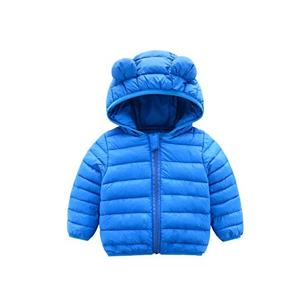 Kerrian Online Fashions 41-YKuH%2BP3L CECORC Winter Coats for Kids with Hoods (Padded) Light Puffer Jacket for Baby Boys Girls, Infants, Toddlers