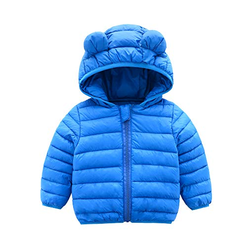 - CECORC Winter Coats for Kids with Hoods (Padded) Light Puffer Jacket for Outdoor Warmth, Travel, Snow Play | Girls, Boys | Baby, Infants, Toddlers, 2T (18-24-30 Months(100), Blue)