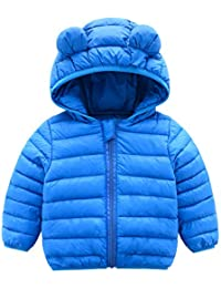 7c440bb3d Winter Coats for Kids with Hoods (Padded) Light Puffer Jacket for Baby Boys  Girls