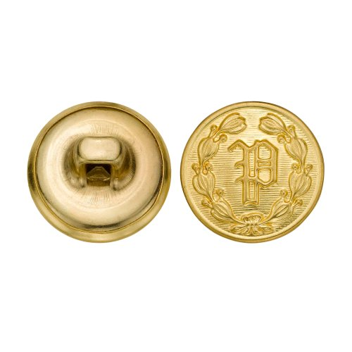 C&C Metal Products 5202 Police P Metal Button, Size 24 Ligne, Gold, 72-Pack