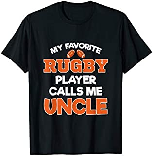 ⭐️⭐️⭐️ Mens My Favorite Rugby Player Calls Me Uncle- Cute Uncle Tshirt Need Funny Short/Long Sleeve Shirt/Hoodie