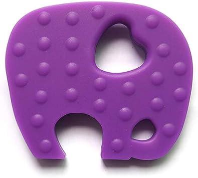 Momangel b/éb/é Jouets de dentition Coque en silicone /él/éphant Pendentif Mom Collier B/éb/és b/éb/é /à m/âcher Dentition jouet