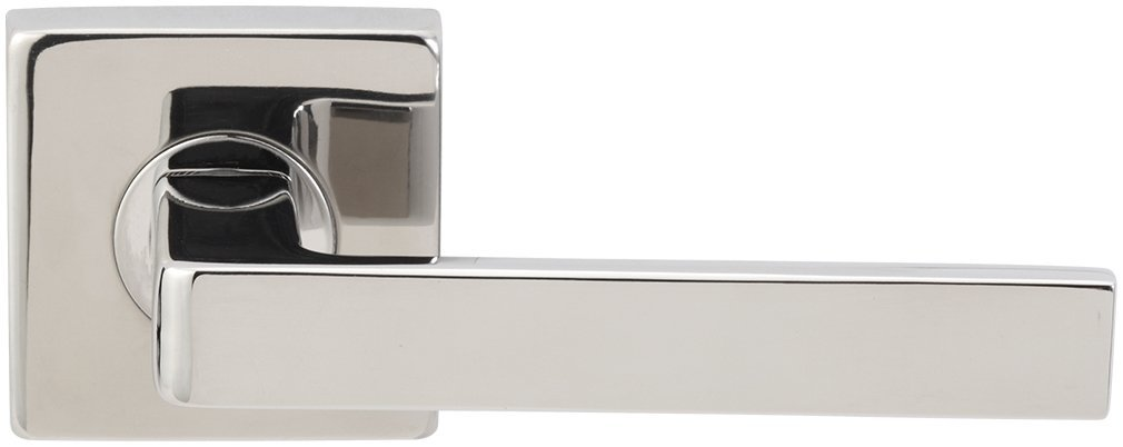INOX SE243L472-32 SE Rosette Tubular Latch-4 Privacy Set with Sunrise Lever and 2-3//4-Inch Backset Polished Stainless Steel
