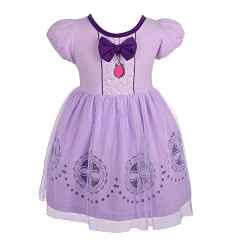 Dressy Daisy Princess Sofia Dress for Toddler Girls Halloween Fancy Party Costume Dress Size 4T 147]()