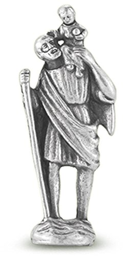 St. Christopher Pocket Statue. Pack of 10 statues. Great for small handout gifts!