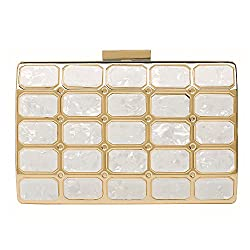 Leather Evening Clutches Handbag Bridal Purse Party Bags For Prom Cocktail Wedding Women Girls Y 10 White