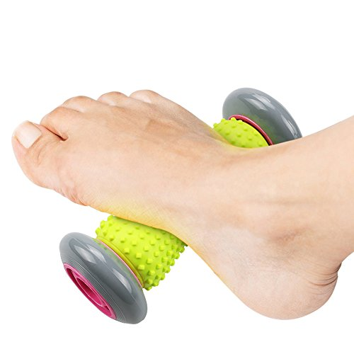 Foot Massager Roller for Plantar Fasciitis Relieve Muscle Tightness (Grey) by Youtumall