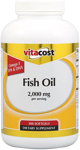 Vitacost Fish Oil Lemon — 2000 Milligram Per Serving – 300 Softgels Review
