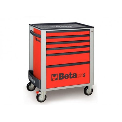 C24S 6/R-MOBILE ROLLER CAB 6 DRAWERS RED by Beta Tools