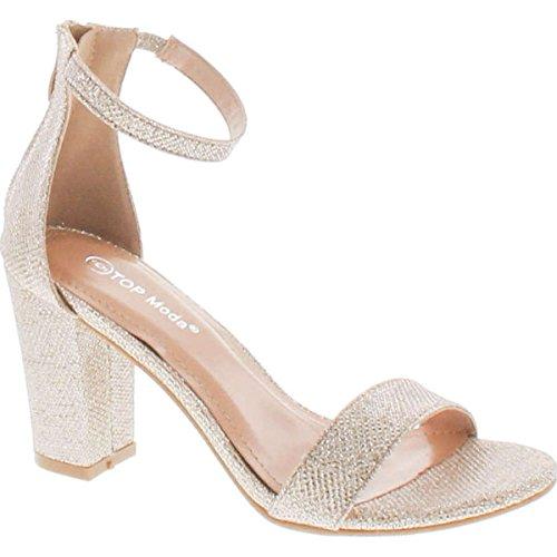 Della Da Champagne Hannah Cinghia Vestito Moda Delle Della Sandalo Sera Top Caviglia Tallone Donne Di Modo 1 0zqwS