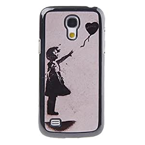 MOFY- Deje Patr—n Globo Coraz—n Go Decal cubierta del caso pl‡stico trasero duro para el Samsung Galaxy S4 Mini I9190