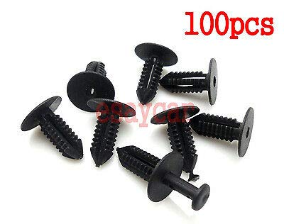 FidgetKute 100pcs Bumper Trim Door Sill Rivet Clip Retainer for BMW E38 E39 Series 3,5,7