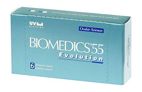 CooperVision Biomedics 55 Evolution Monatslinsen weich, 6 Stück / BC 8.90 mm / DIA 14.20 mm / -7.00 Dioptrien