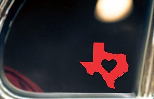 Heart Texas Decal/Sticker For Car Window, Bumper, or Laptop.