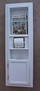 Mpu 3 Recessed Solid Wood Bathroom In The Wall Magazine Rack Trash Can Toilet