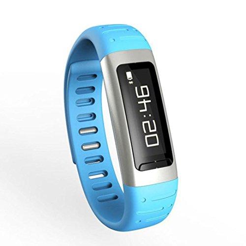 Ecosin® Bluetooth Smart Wrist Watch Bracelet Waterproof Support WiFi Hotspots Caller ID, Reject Call, Alarm Clock, Pedometer WIFI Clock Burglar Alarm etc waterproof anti corrosion 74*17.8*8.8mm (B)