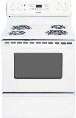 Hotpoint RB720DHWW 30-Inch  30 In. Free-Standing Electric Range