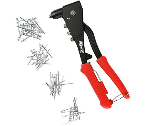 Air Riveter Tools - ARES 70017 | Professional Pop Rivet Gun with 60 Rivets | Applications Include Sheet Metal, Automotive, and Duct Work