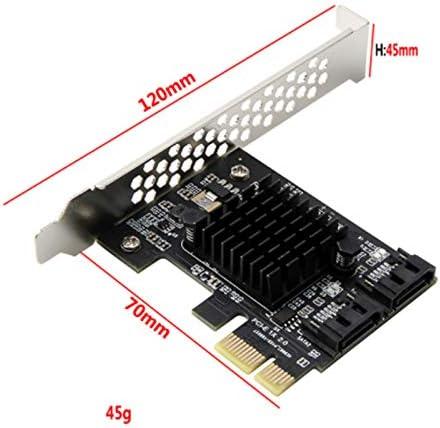 VANOLU Controlador de Tarjeta Adicional SATA 3 PCIE SATA3 PCIE//PCI-E Tarjeta SATA//Expansi/óN//Multiplicador Puerto PCI Express SATA