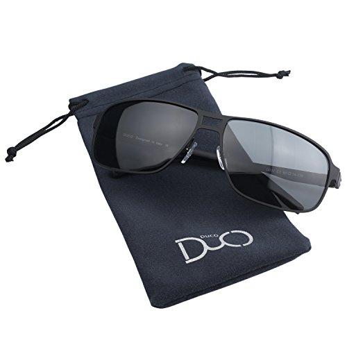 Hommes Duco flexible soleil Femmes adaptable protection de Monture polarisées style aviateur 100 UV Lunettes G002 anti 4S4wxUqz